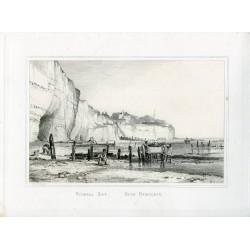Inglaterra «Pegwell Bay, near Ramsgate» grabado por E.W. Cooke sobre pintura de Chas. G. Lewis