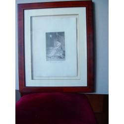 «Porque fue sensible» Grabado original de la serie los Caprichos de Goya. Nº 32