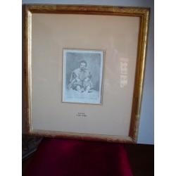 «Don Sebastian de Morra enano del Principe Baltasar Carlos» Grabado original de Goya sobre obra de Velazquez