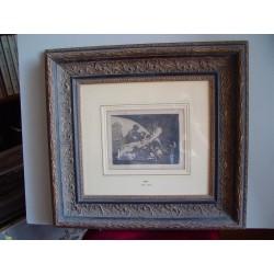 «Ni por esas» Grabado original de Goya nº 11 de la serie Los Desastres de la Guerra