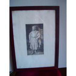 Barbarroja' Original engraving de Goya sobre obra de Velazquez