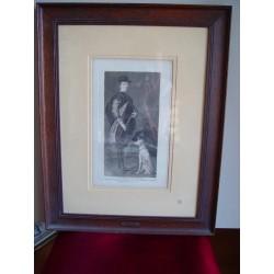 Un Infante de Spain' Original engraving de Goya sobre obra de Velazquez. Retrato de Fernando de Austria.