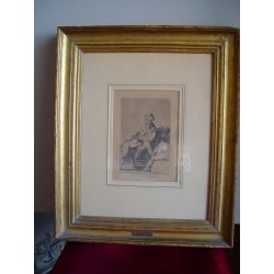 «Al conde Palatino» Grabado original de Goya de la serie Los Caprichos. Nº 33