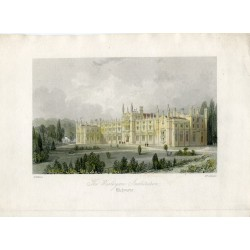 Inglaterra. Richmond. 'The Wesleyan Institution' grabdo en 1850 por H. Adlard sobre obra de T. Allom.