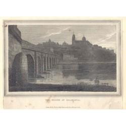 España. Salamanca. «Vista de la ciudad desde el río Tormes con la catedral al fondo»