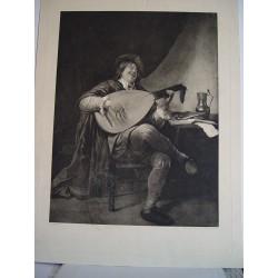 «Musico» grabado sobre obra de Jan Steen