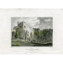 Wales. 'Interior of Chepstow Castle' Monmouthshire. Engraving after C.V. Fielding por W. Woolnoth