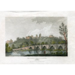 Inglaterra. «The castle church bridge» Grabado por Hay, dibujado por W. Carter en 1812