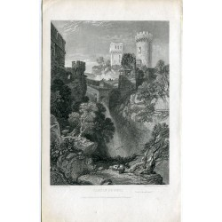 Italy. 'Castle of Nepi' Engraved by James B. Allen drawn by J.D. Harding en 1831