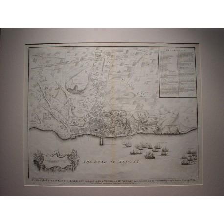 Spain. 'Plano de la ciudad y castillo de Alicante en 1708-09'.