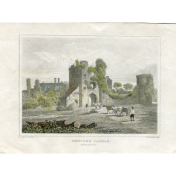 England. 'Pencoed Castle' Engraved by W. Woolnoth sobre un drawing de F. Stockdale