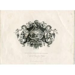 Impression from a silver tankard' Litografia por E. Chavanes after William Hogarth en 1833