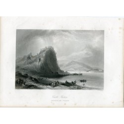 Hungry. 'Castle Theban' Engraved by J.C. Armytage en 1842 after W.H. Barlett
