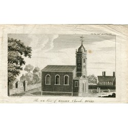 «The N.W. vieux of Williem church Bucks, grabado de 1792