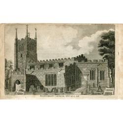 Bletchley Church en Bucks grabado por T. Prattent sobre obra de W.P. en 1794