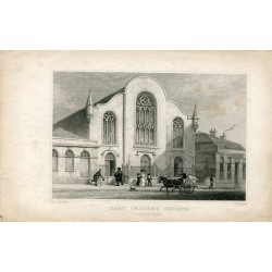 Lady Yester´s Church´Edimburgo grabado por W. Radclyffe sobre obra de Th.R. Shepherd