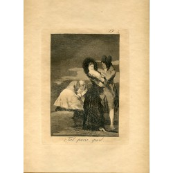 FRANCISCO DE GOYA «Tal para cual» Grabado original n 5 de los Caprichos. Edición realizada en la Calcografía Nacional.
