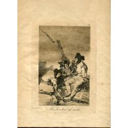 FRANCISCO DE GOYA «Muchachos al avío» Grabado original nº 11 de los Caprichos.  Calcografía Nacional.