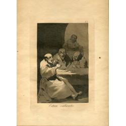 FRANCISCO DE GOYA «Están calientes» Grabado original nº 13 de los Caprichos.  Calcografía Nacional.