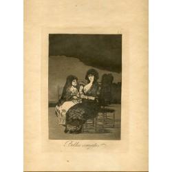 FRANCISCO DE GOYA «Bellos consejos» Grabado original nº 15 de los Caprichos. Calcografía Nacional.